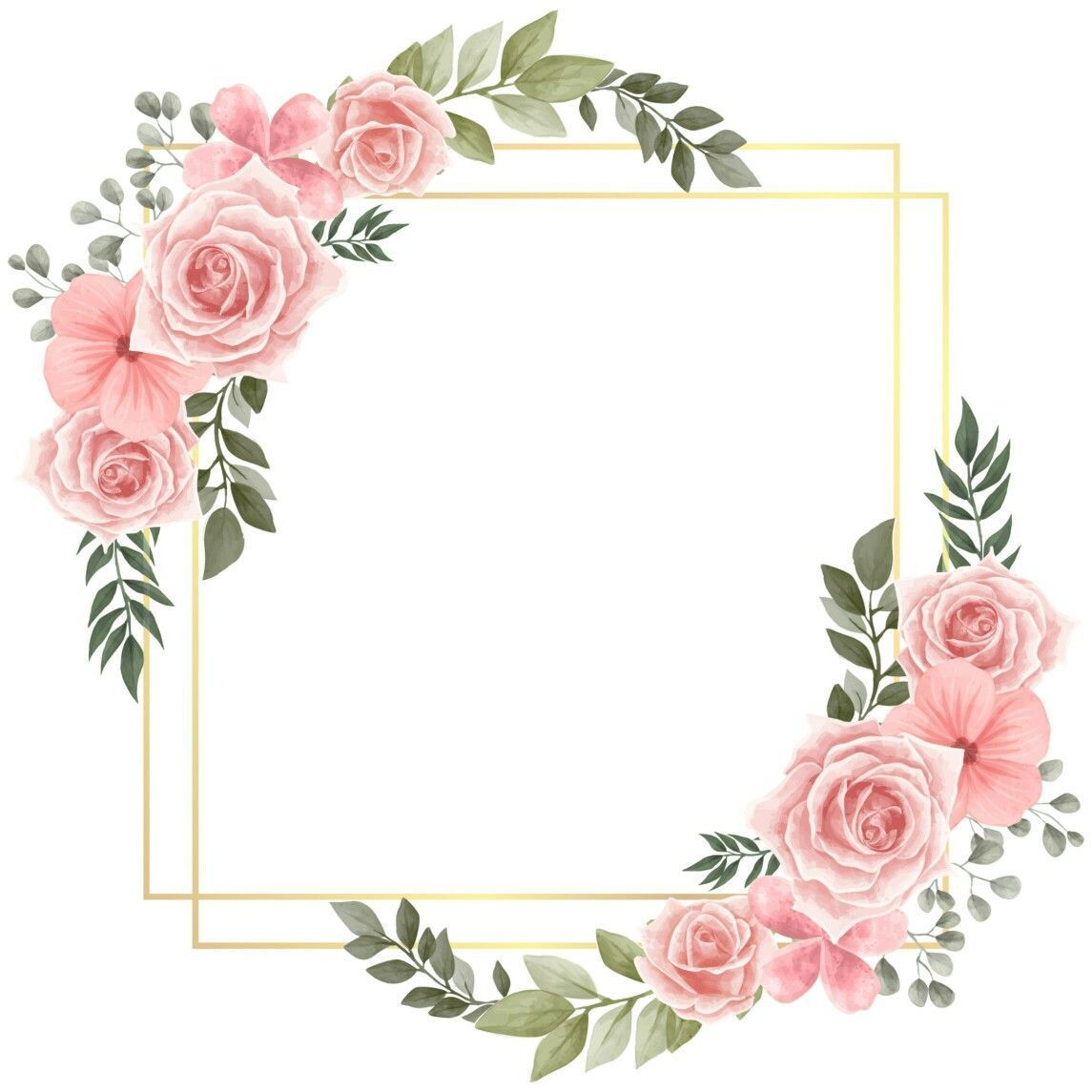 Criativo Convite Modelos De Etiqueta Quadro De Flores Agendas Ideias De Tat Flower Background Wallpaper Floral Stickers Flower Frame
