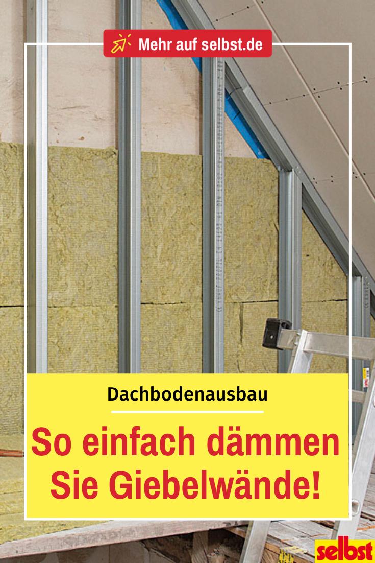 Dachausbau Dach dämmen, Dachbodenausbau trockenbau