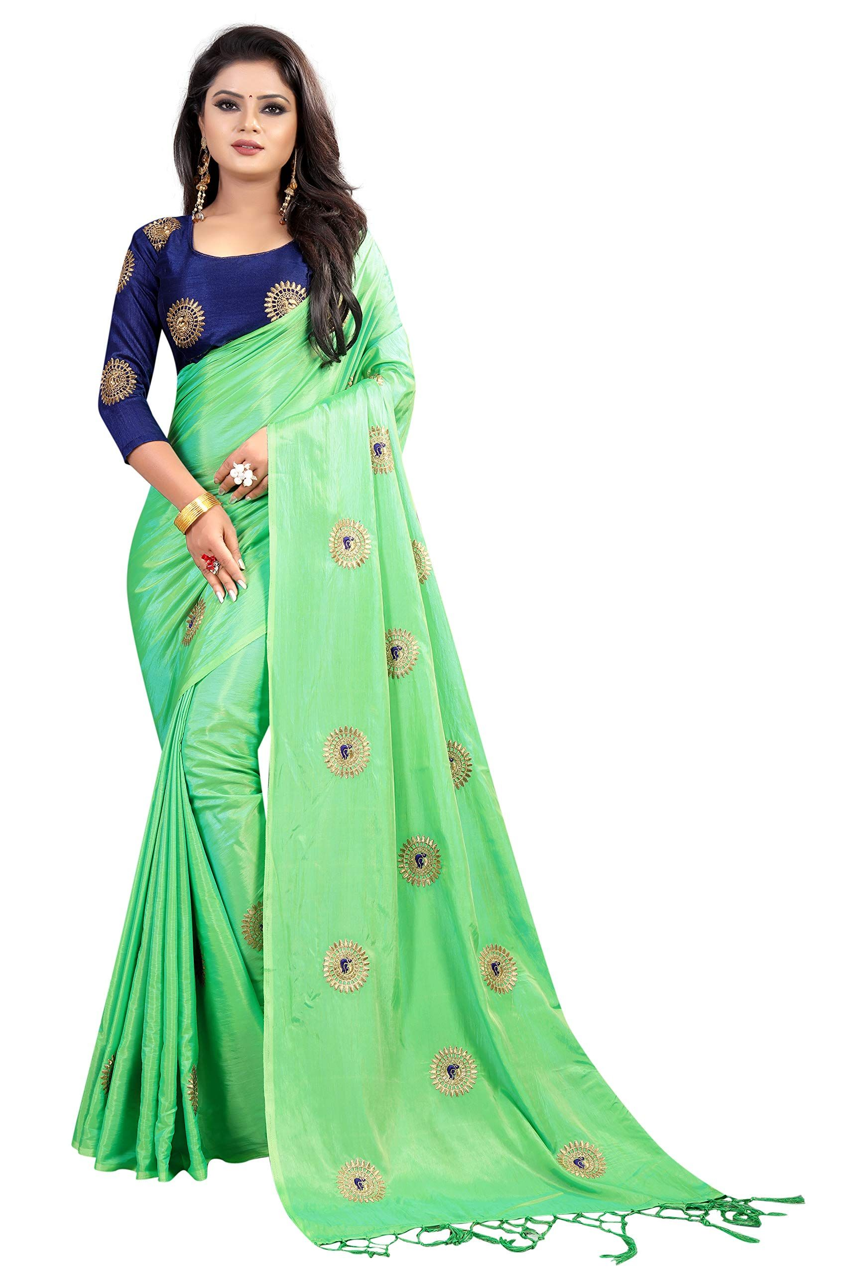 01b4fa70bc99c Crazy Women s Paper Silk Saree with Blouse Piece in 2019