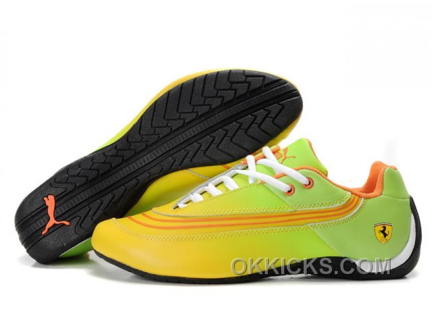 http   www.okkicks.com puma-ferrari-leather-shoes-green-yellow ... 08f8abf61