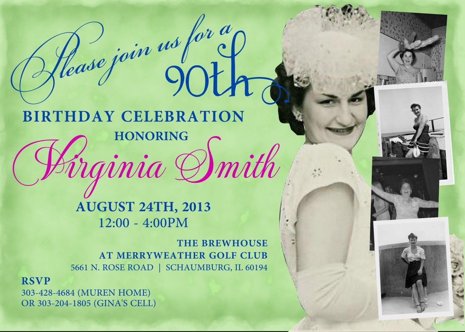 90th Birthday Invitations on Party Invitation Categories | 90th ...