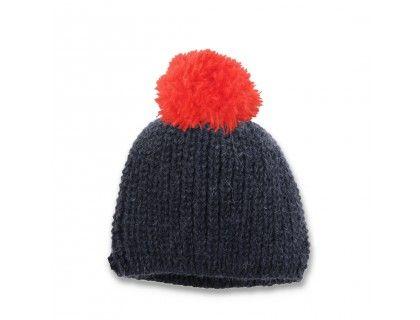 Mamy Factory - Bonnet enfant marine avec pompon rouge. Tricoté main par nos  mamies en grosses côtes perlées avec une laine naturelle extrêment douce et  ... ed10dc0e7a8