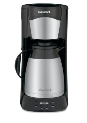 Cuisinart Black Stainless Steel 12 Cup Programmable Thermal Coffeemaker Black Thermal Coffee Maker Cuisinart Coffee Maker Coffee Maker
