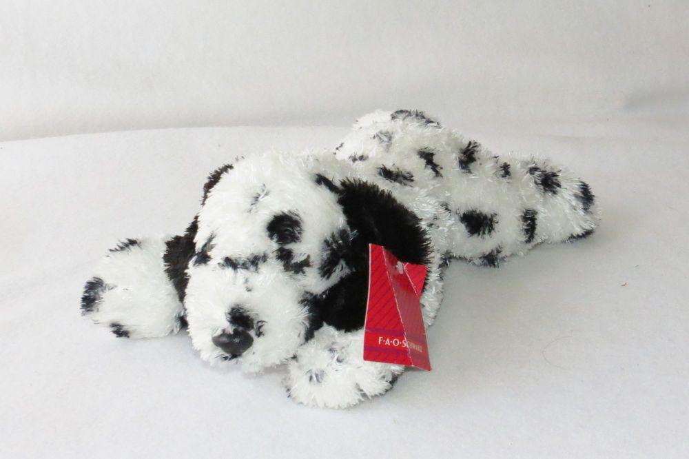5c0ae39aae4e FAO Schwarz Sophi Bean Dalmatian Puppy Dog Plush Bag Silky Stuffed Toy 11