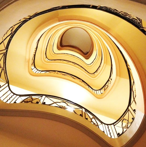 Seven floor spiral staircase leading to the ELIE SAAB Suite at the Hotel Martinez. More to come... #TheLightofCannes http://TheLightOfCannes.com