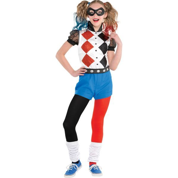 DC Super Hero Girls Girls Romper Harley Quinn Costume