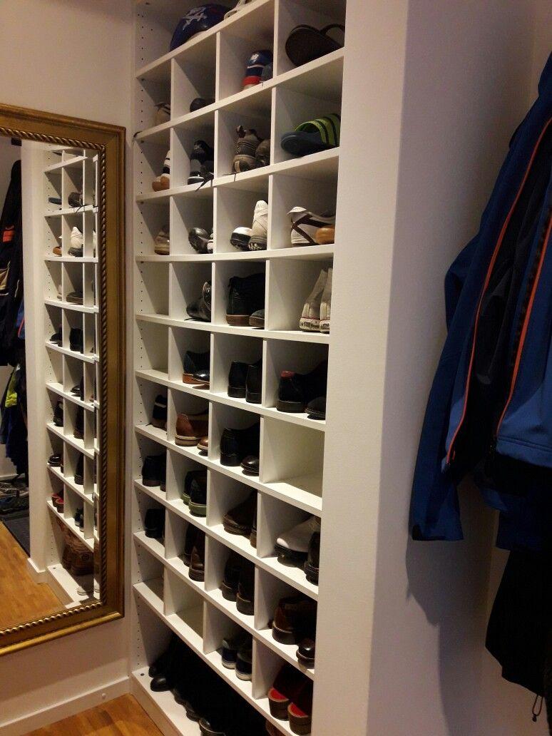 Schuhschrank. Ikea Pax halbe Tiefe mit Schuhfächern. | wohnen ...