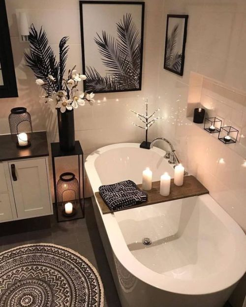 Bamboo Bath Tray Master Bathroom Decor Relaxing Bathroom Bathroom Design