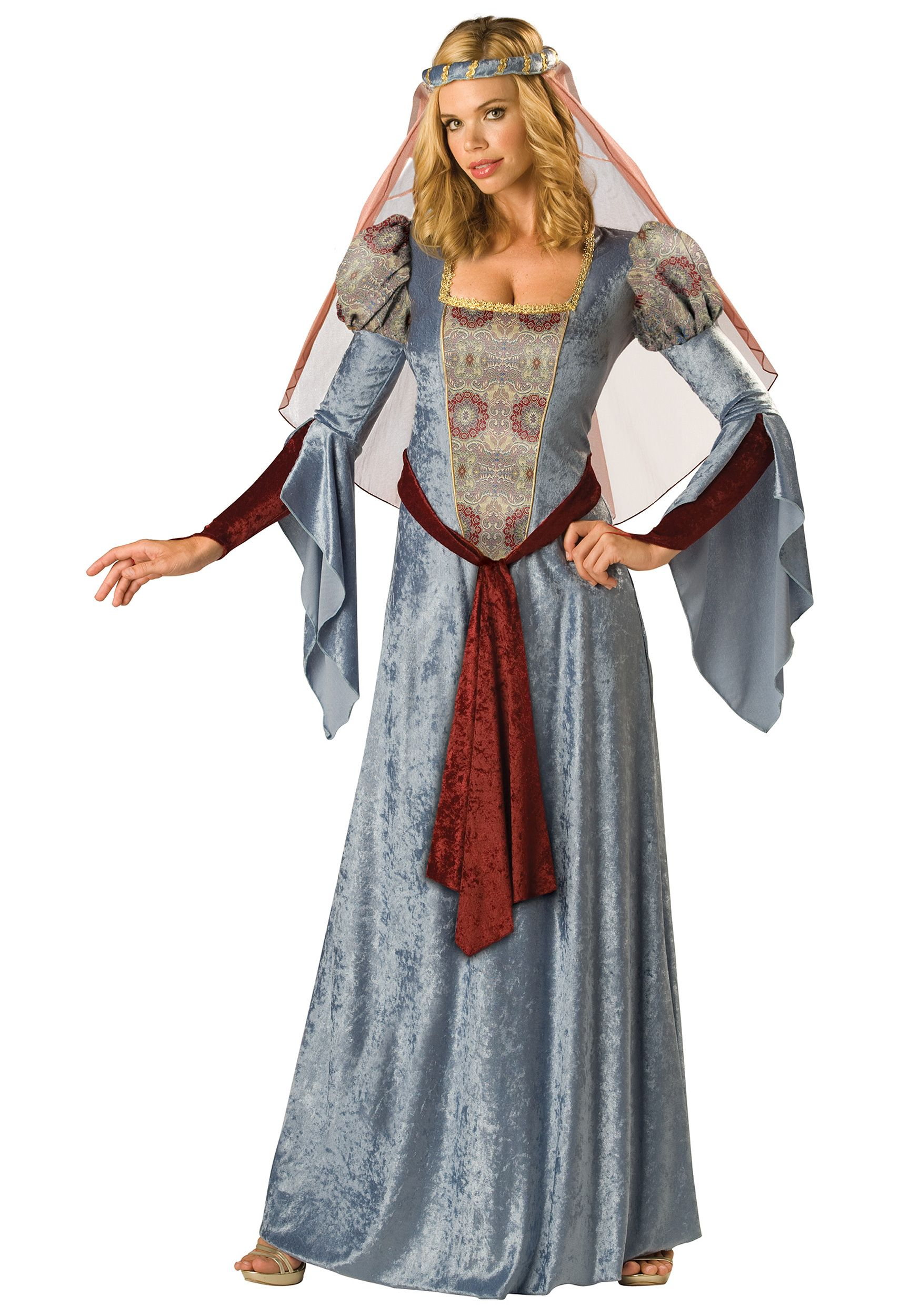 Ladies Maid Marion Costume Adults Fair Maiden Fancy Dress Princess Robin Hood