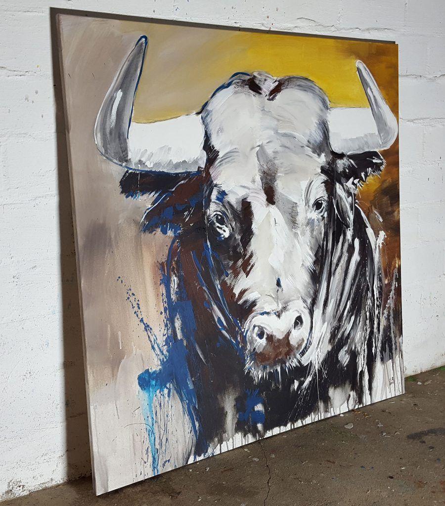 TAURUS – expressive zeitgenössische Malerei auf XL Leinwand   Taurus ...