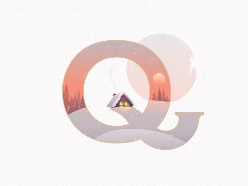 A Winter Tale Collection Letter Q  Collection Letter