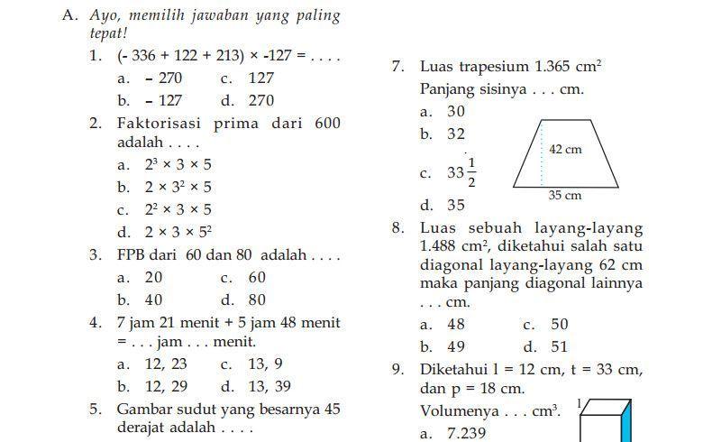 Pin Di Matematika Kelas 5