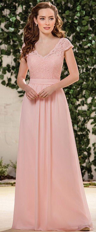 Exquisite Chiffon V-neck Neckline Floor-length A-line Bridesmaid ...
