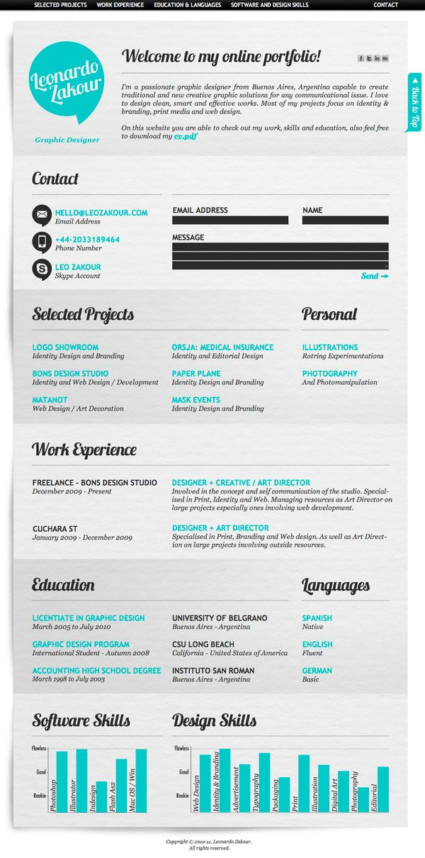 17 Best Images About Cv On Pinterest   Cool Resumes, Editor And