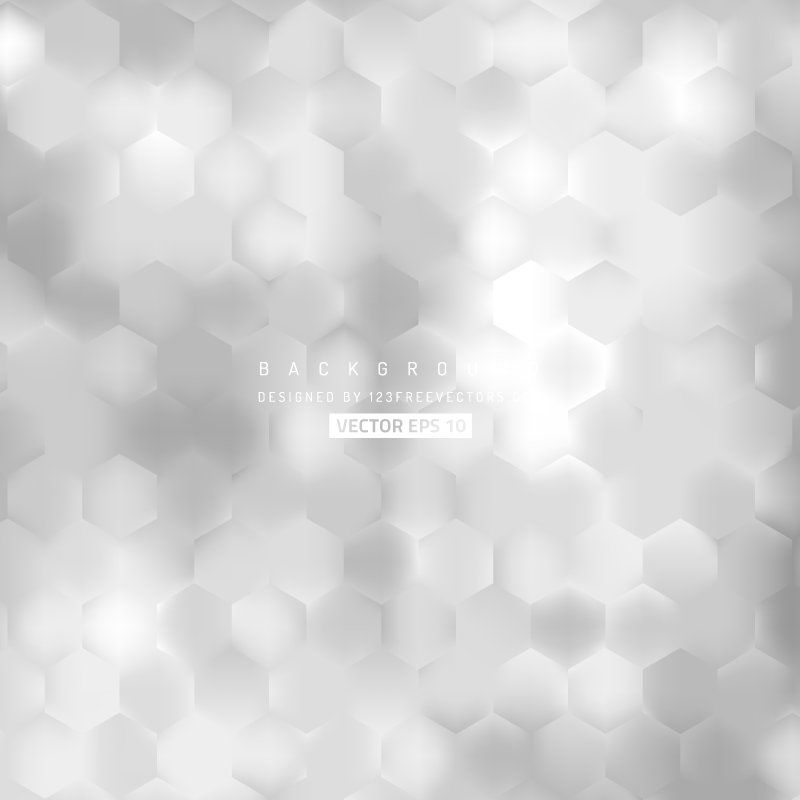 Abstract Light Gray Hexagon Pattern Background Design In 2020