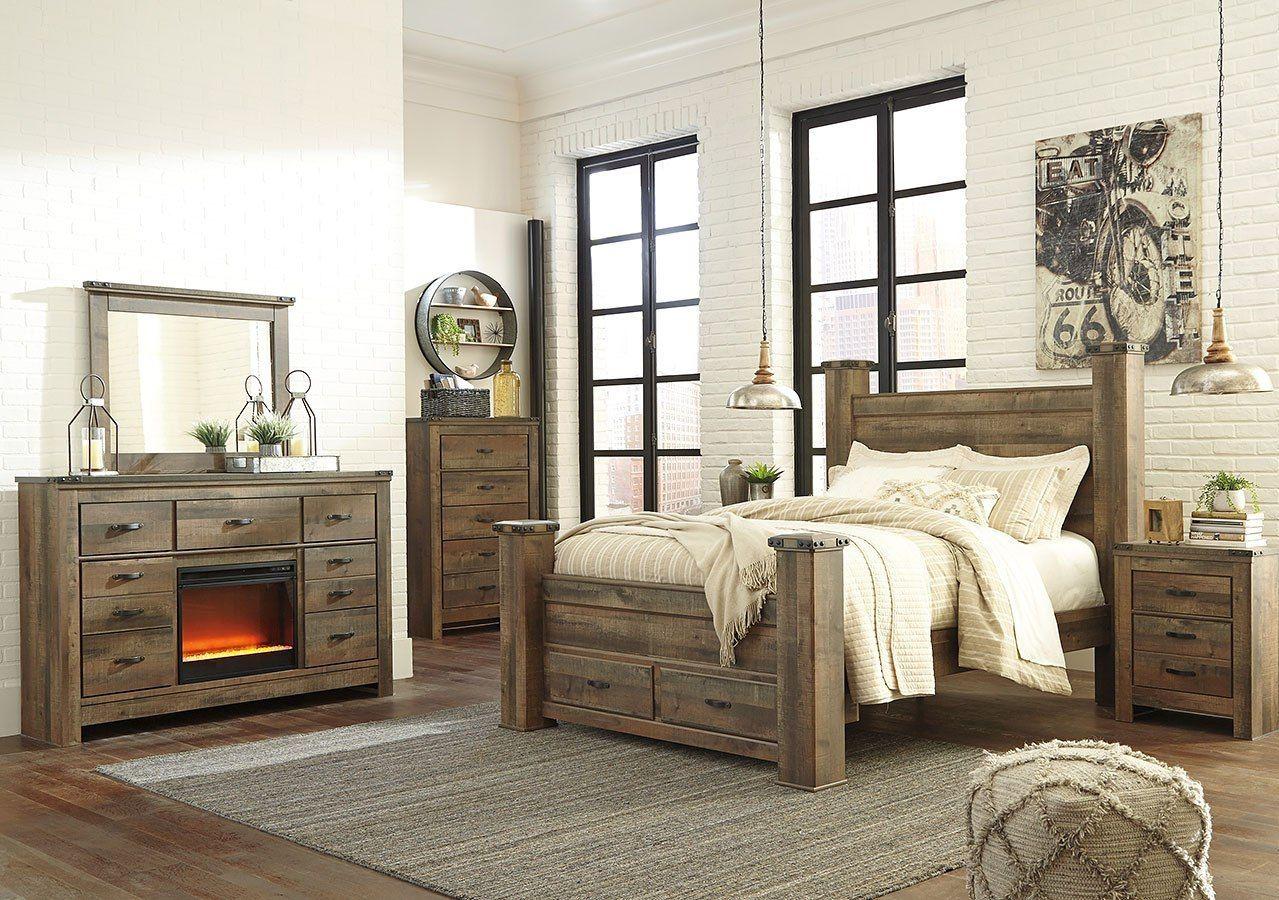 Trinell Poster Storage Bedroom Set in 2020 Bedroom set