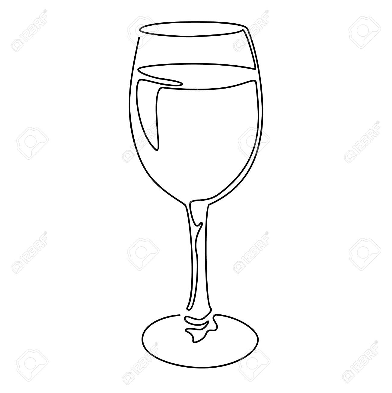 41+ Wine glass clipart black and white information