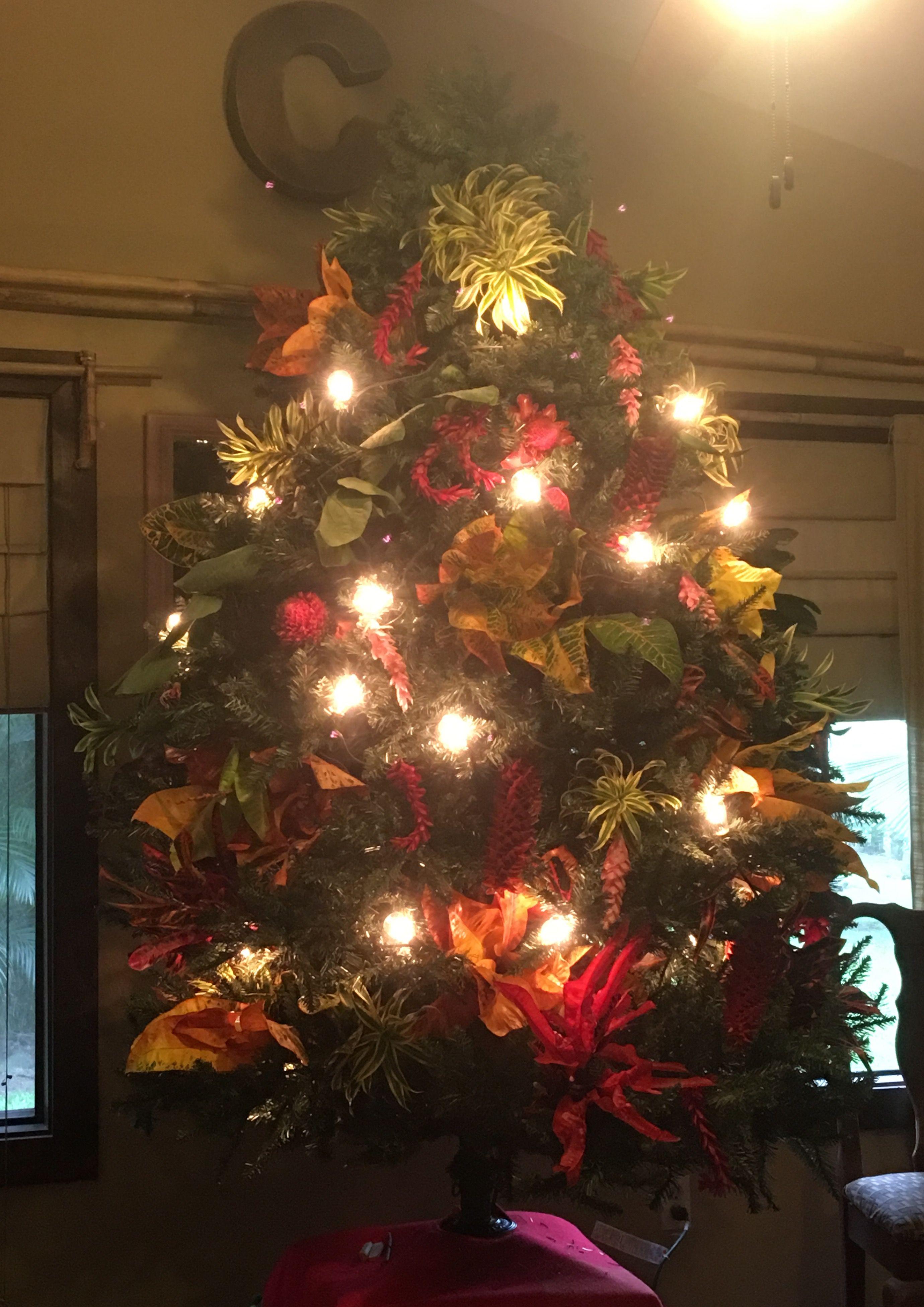 budget hawaiian christmas tree edison patio lights and tropical cuttings from the yard jpg 2760x3904 tropical - Christmas Walkway Lights