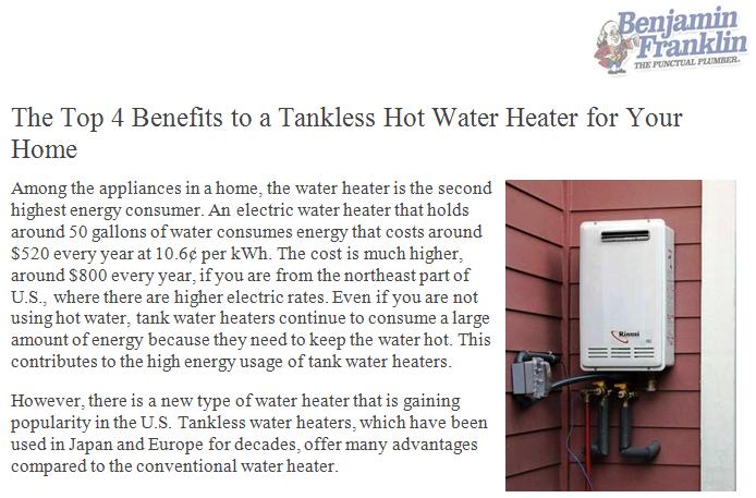 Pin By Benjamin Franklin Plumbing On Benjamin Franklin Plumbing News Tankless Hot Water Heater Plumbing High Energy
