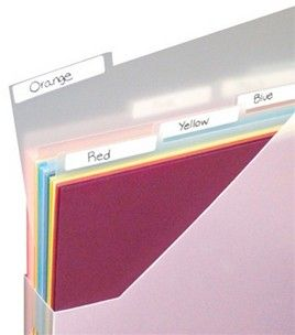 reg. $5.49   Use in Paper File, Paper Holder or Paper Pouch to separate and organize categories. Wide labels make it easy to find needed supplies. Frosted - 12''x 12''. 3/Pkg.