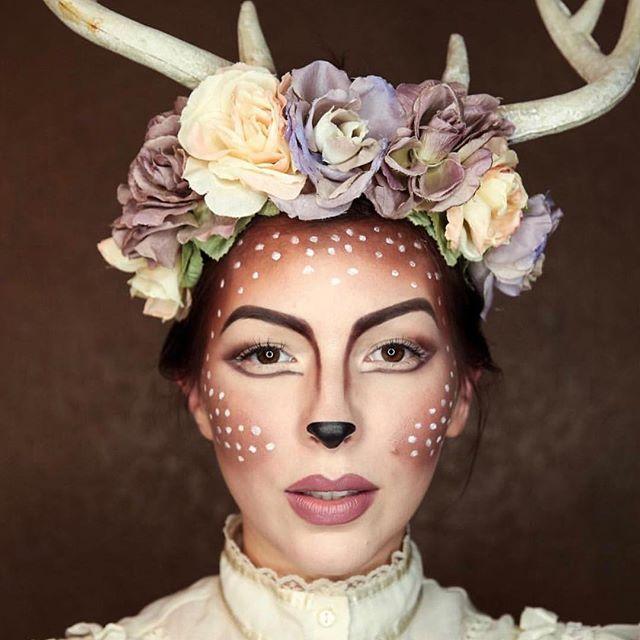 Need a last minute #Halloween costume idea? @keikolynn\u0027s deer make - easy halloween costume ideas for women