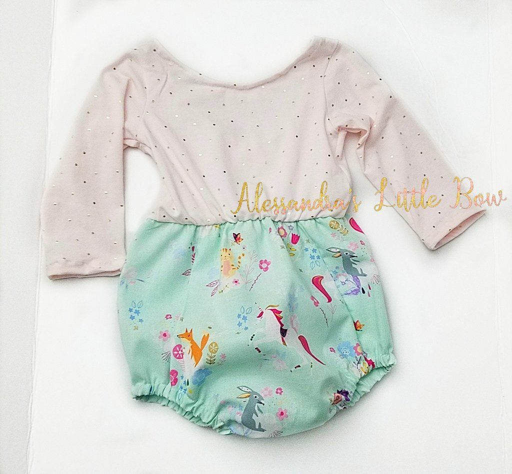 15fd34af0c83 Long Sleeve Unicorn Bubble Romper