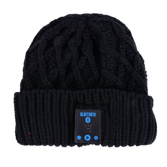 Warm Winter Beanies Bluetooth Hats for Women Men Unisex Wireless Talk Call  Bluetooth Smart Caps Headphone Headset Speaker Mic b43685573307