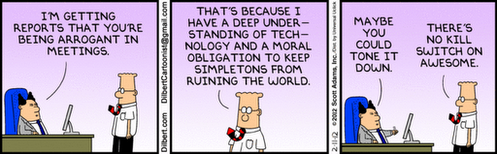 Funny Dilbert cartoon.