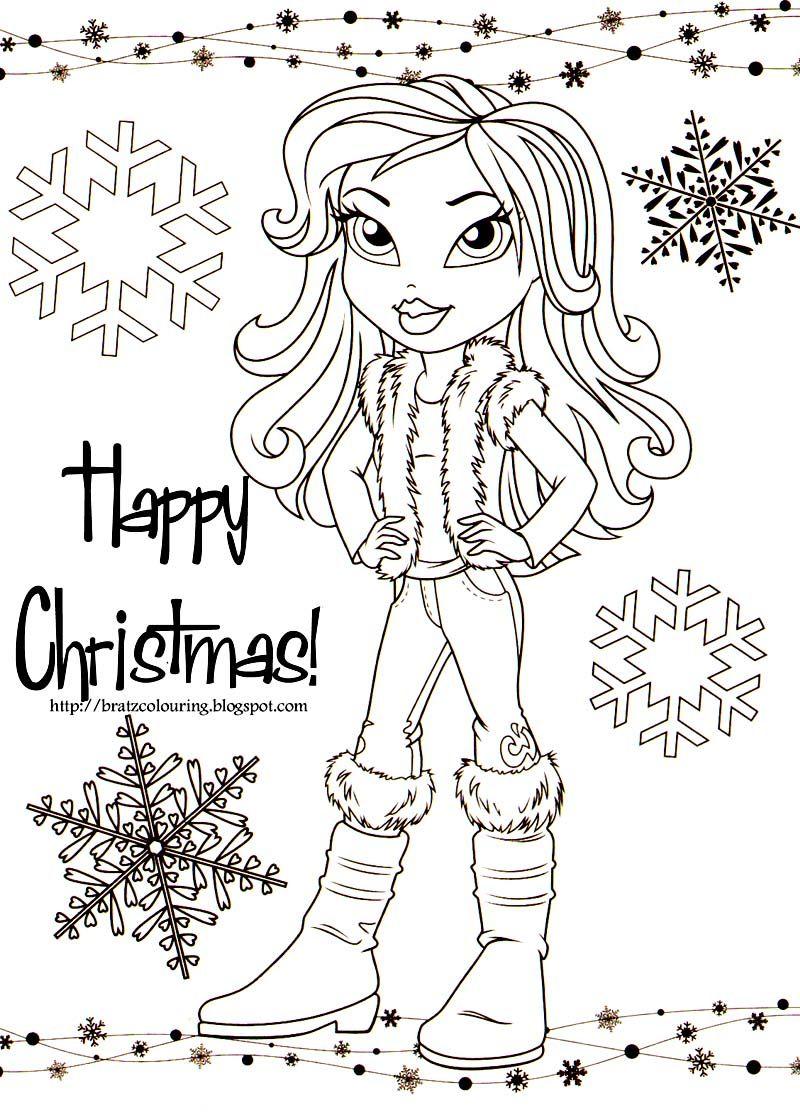 BRATZ COLORING PAGES: BRATZ CHRISTMAS | Family planner / printables ...
