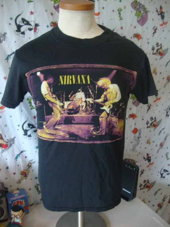 9830f4306 Vintage Nirvana 1996 from the muddy banks of the wishkah 90's grunge kurt  cobain T Shirt Size S