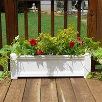 Pvc Planters Large Rectangular Outdoor Self Watering Planter Bo