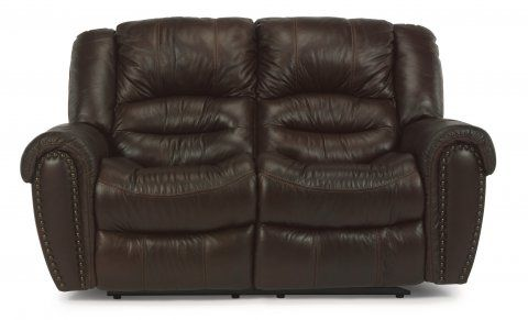 Superb Crosstown Leather Power Reclining Loveseat By Flexsteel Via Pdpeps Interior Chair Design Pdpepsorg