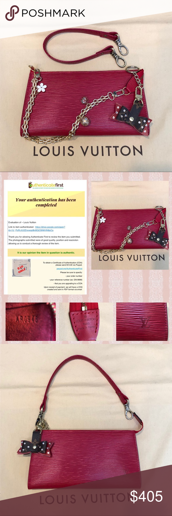 Authenticated Louis Vuitton Red Epi Pochettear0938 Gorgeous Louis Vuitton Bag In Excellent Condition This B Louis Vuitton Red Louis Vuitton Louis Vuitton Bag