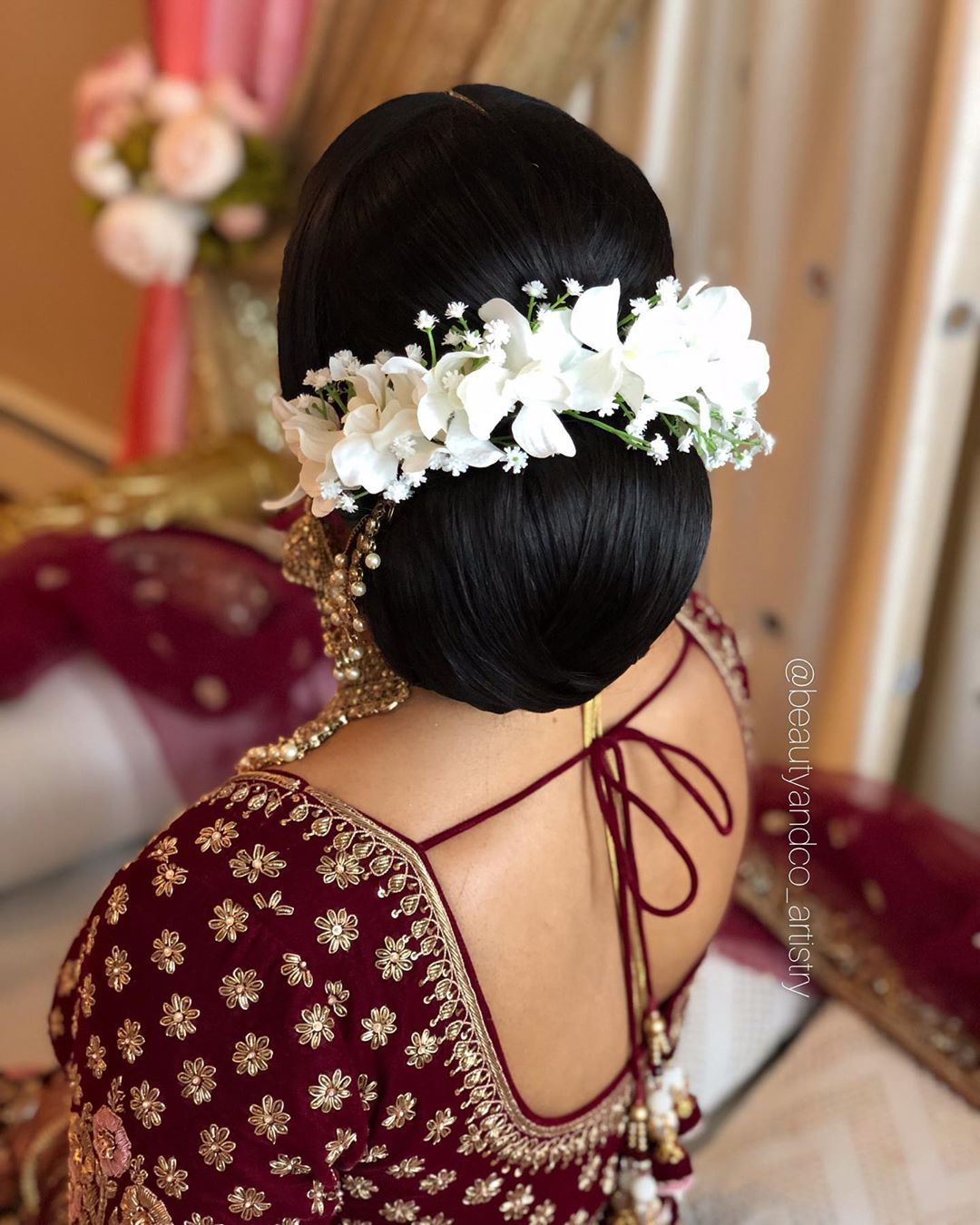 Morning Bridal Bun Adorned With Sukisflowers Silk Orchids Hair Styled Using The Bombayhair X Dressyourface Flat Iron And At Th Bridal Bun Silk Orchids Hair