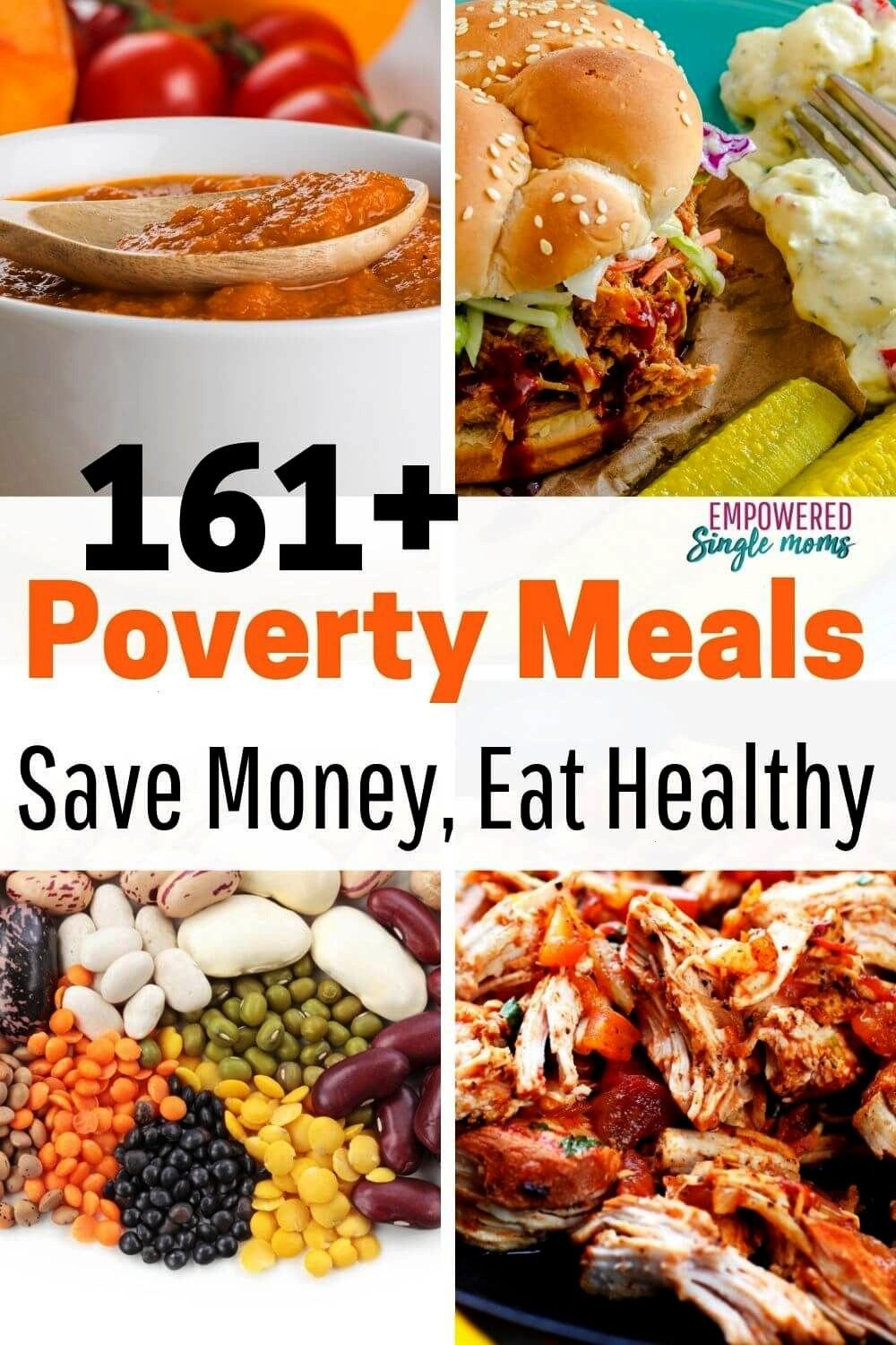 recipes made with poverty food Delicious meals for lunch and dinner Meals to make ahead with your crockpot Yummy meals with lentils black beans and moreBudget recipes mad...