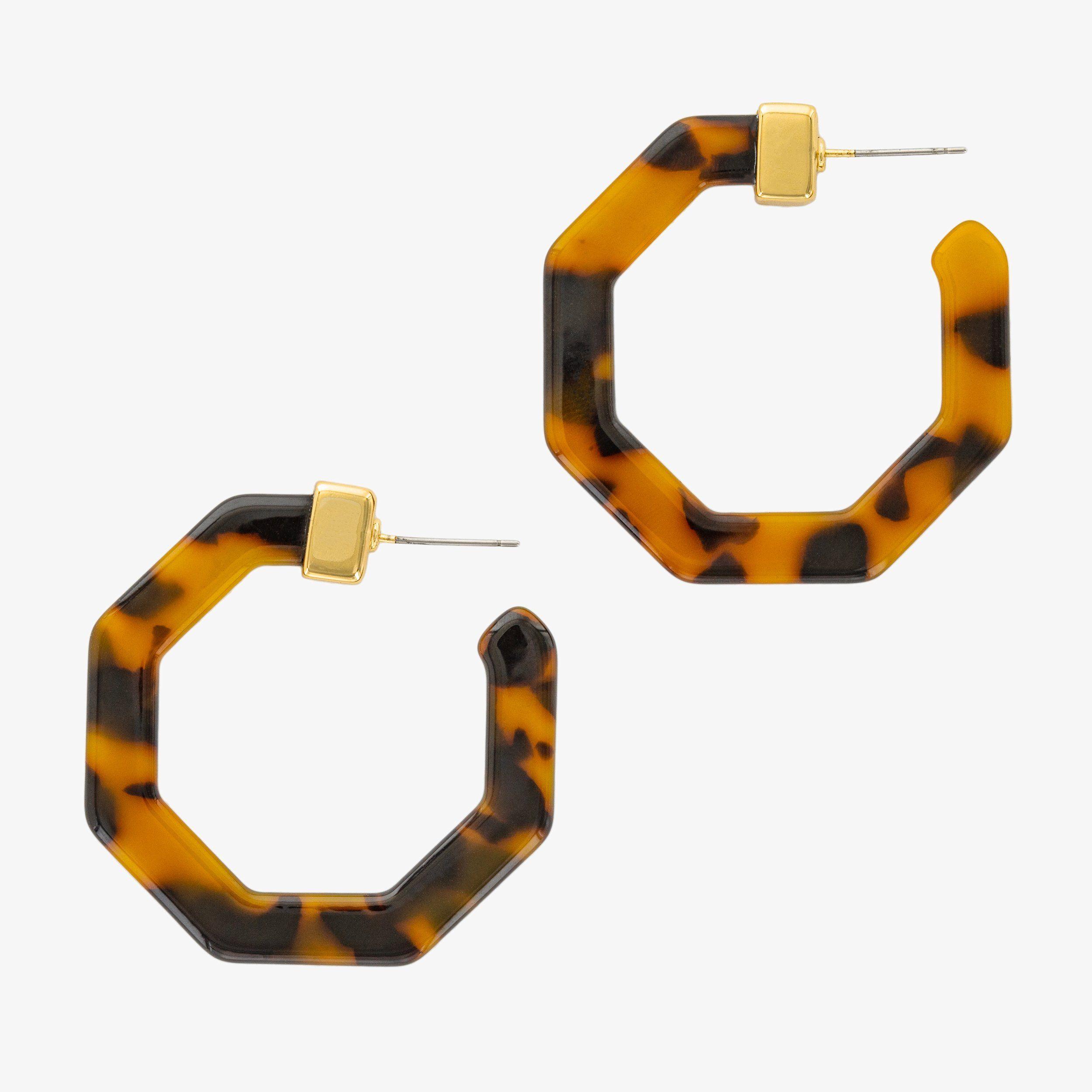 e4b6f2cde SELINA TORTOISE HOOPS. SELINA TORTOISE HOOPS Gold Hoop Earrings, Gold Hoops,  Statement Earrings, Women's Earrings,