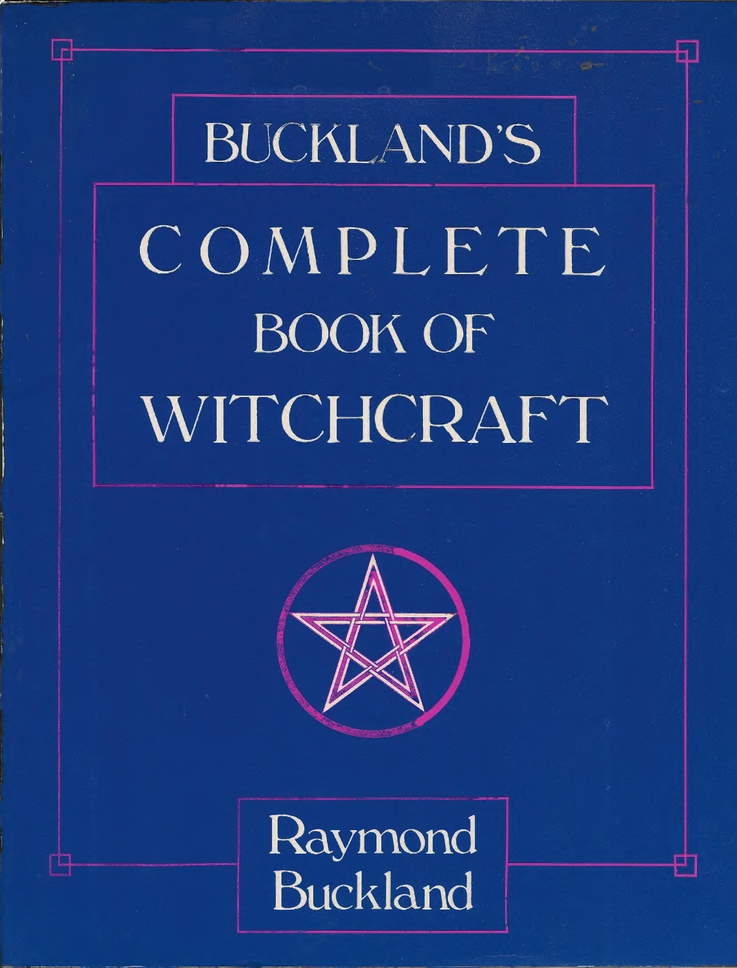 Bucklands complete book of witchcraft readable on the