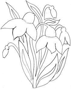 Wiosenne Kwiaty Kolorowanki Szukaj W Google Flower Drawing Free Motion Quilt Designs Embroidery Art