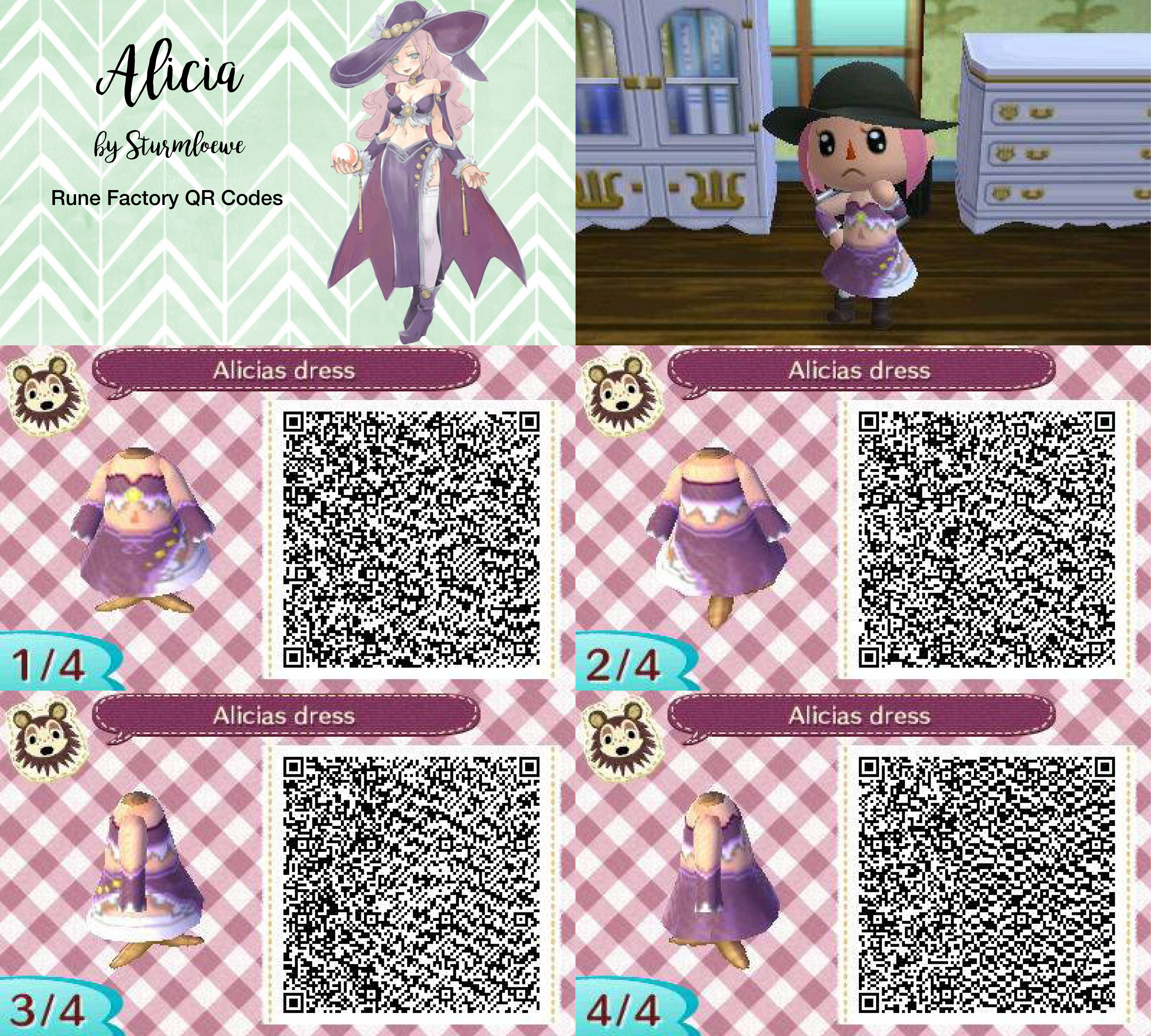 Animal Crossing New Leaf Cat Outfit Qr Code