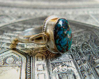 bague argent turquoise iran