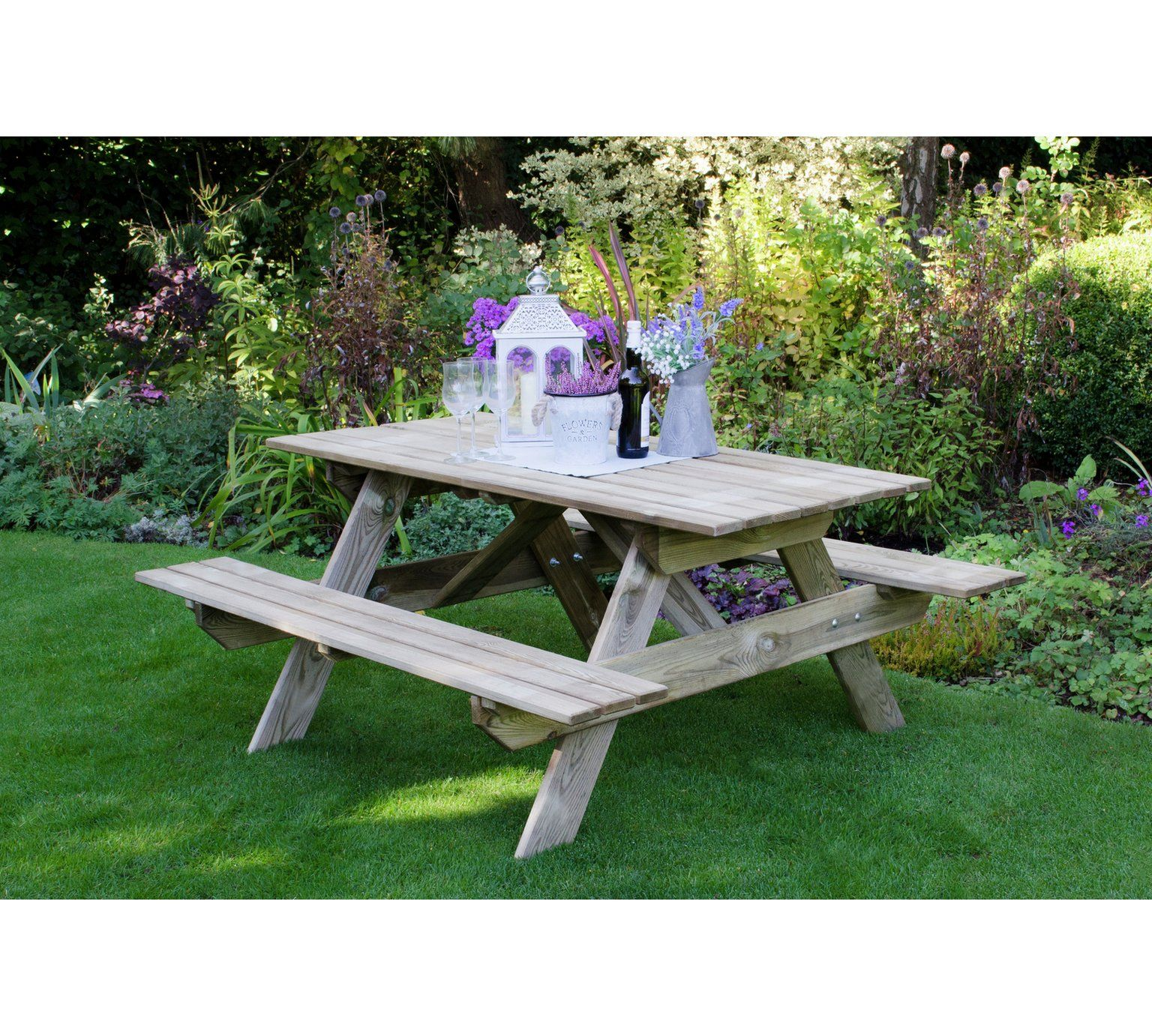 Buy forest 1 5m small rectangular picnic table at argos co uk visit