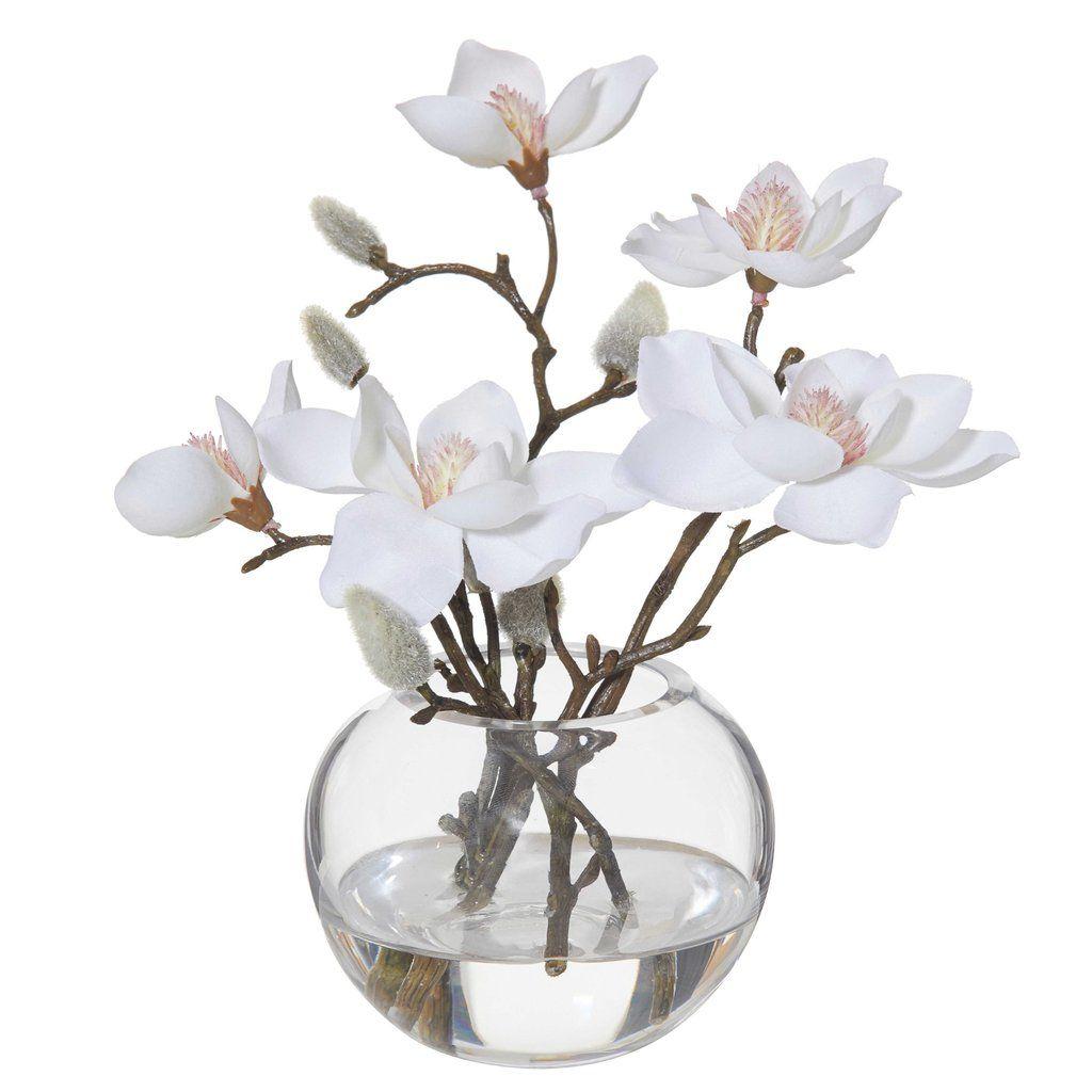 Magnolia In Sphere Vase 21cm In 2020 Vase Spheres Magnolia
