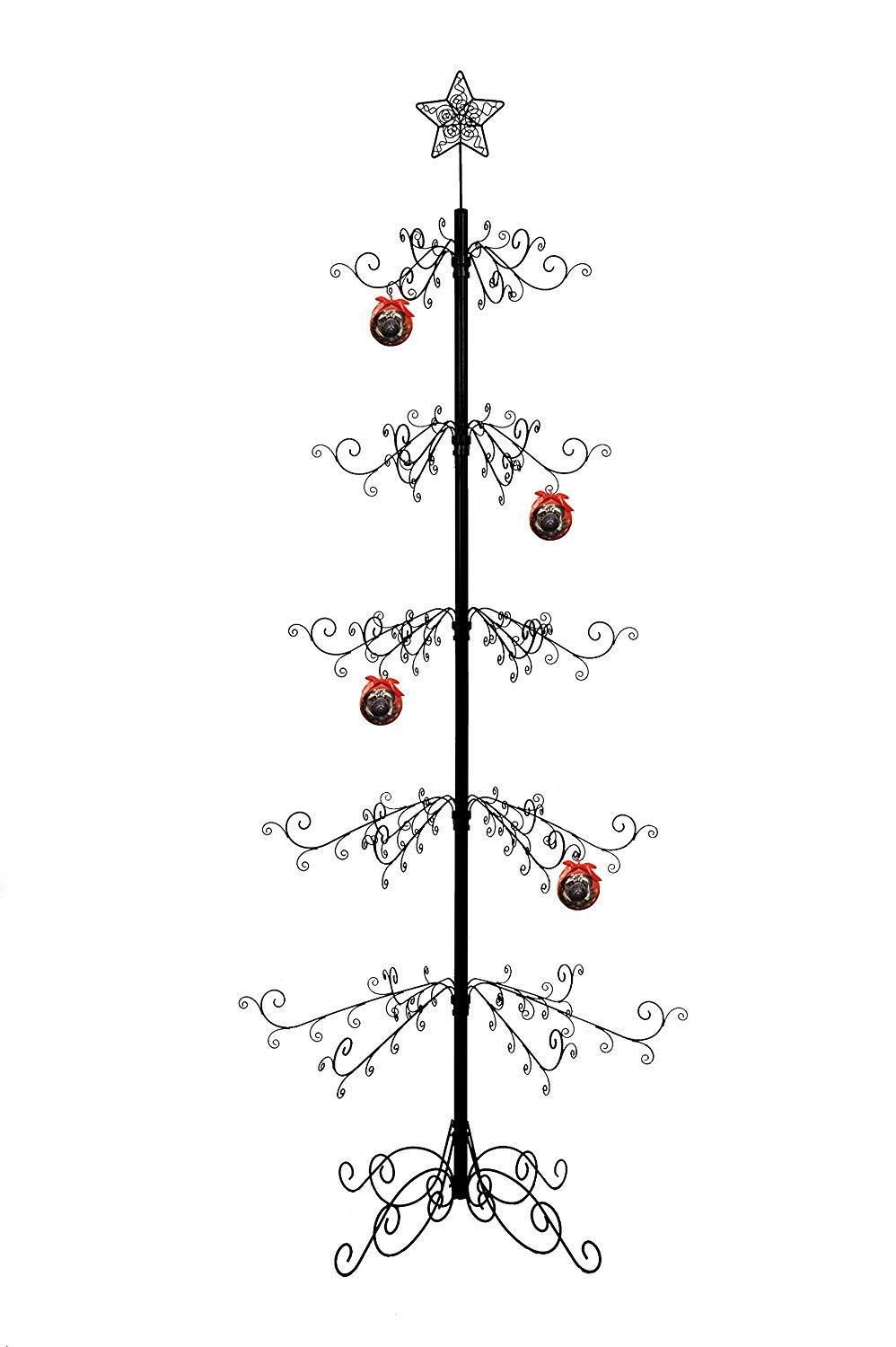 Metal Ornament Tree Display Stand Wrought Iron Christmas Trees 174 Hook 84 H Ebay Metal Ornament Tree Ornament Tree Display Metal Christmas Tree