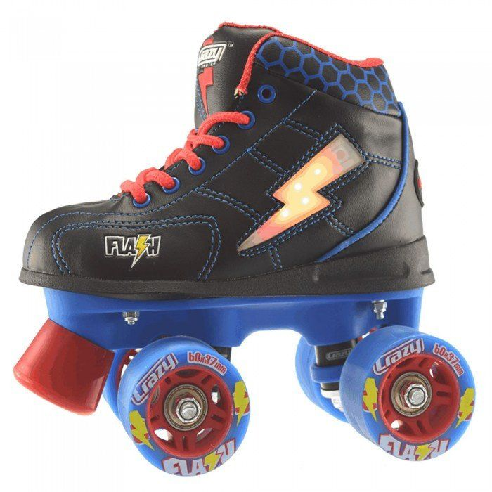 Crazy Skates Flash Roller Skates for Girls White Patines Light Up Skates with Bright Colorful Lights