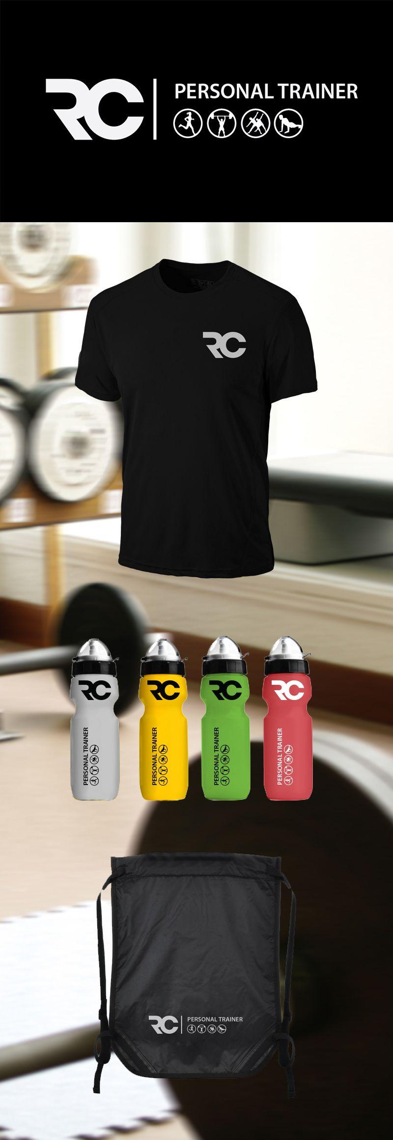 Rc Personal Trainer On Behance Logotipo Fitness Cartao De Visita Logomarca