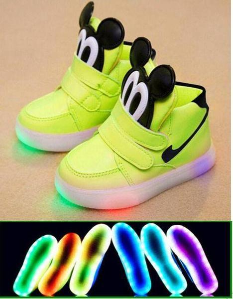 6e82babd0712 Kids Led Light Up Mickey Mouse Tennis Shoes