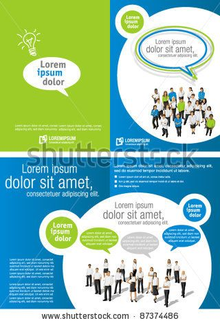 Advertising Brochure Template Green And Blue Template For Advertising Brochure With Business .