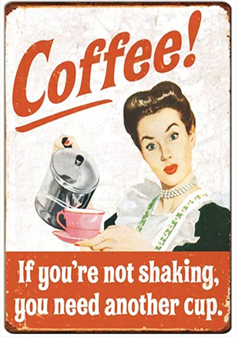 Starbucks funny joke pic Design Vintage Poster Magnet Fridge Collectible