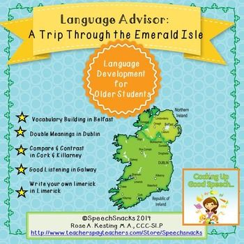 A comprehensive language activity for older students--for March/St. Patty's Day/cross-curricular.