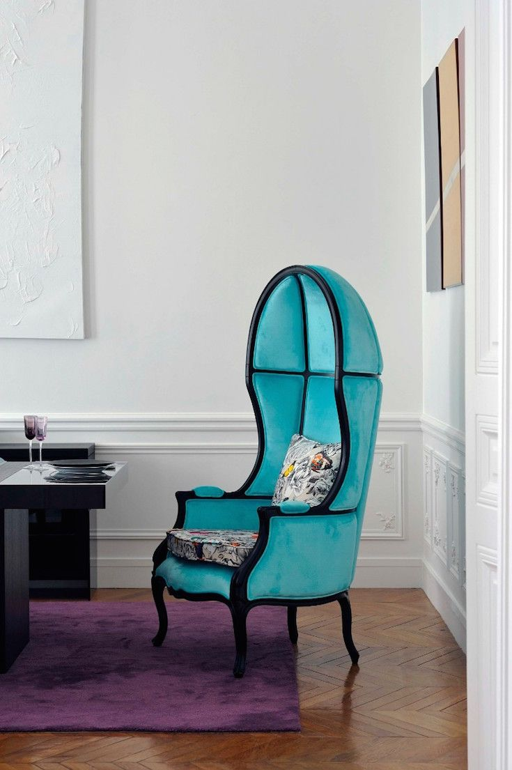 A residential project that will make you love blue design furniture